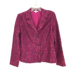 CAbi Lace Frolic Plumberry Blazer Jacket #128